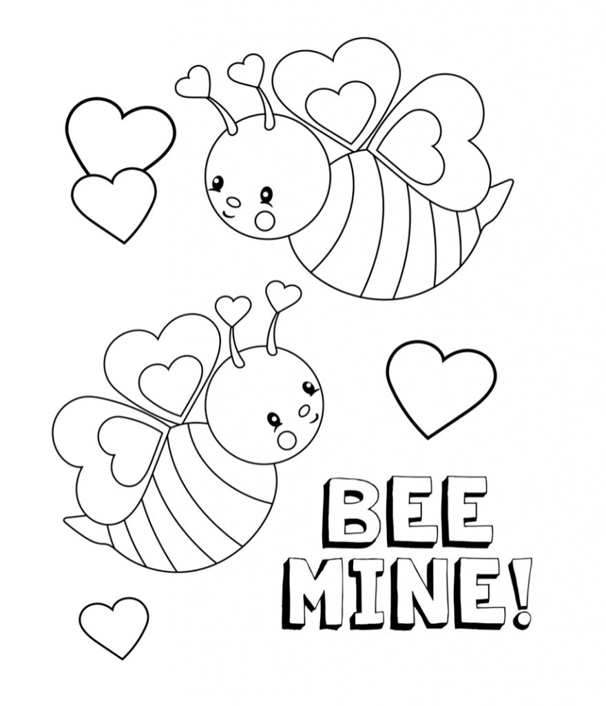 Valentines Coloring Pages - Happiness Is Homemade - Free Valentine Colouring Printables