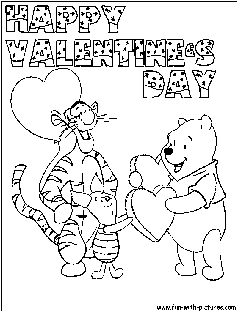 Valentine's Day Coloring Pages | Projects To Try | Valentine - Free Printable Disney Valentine Coloring Pages