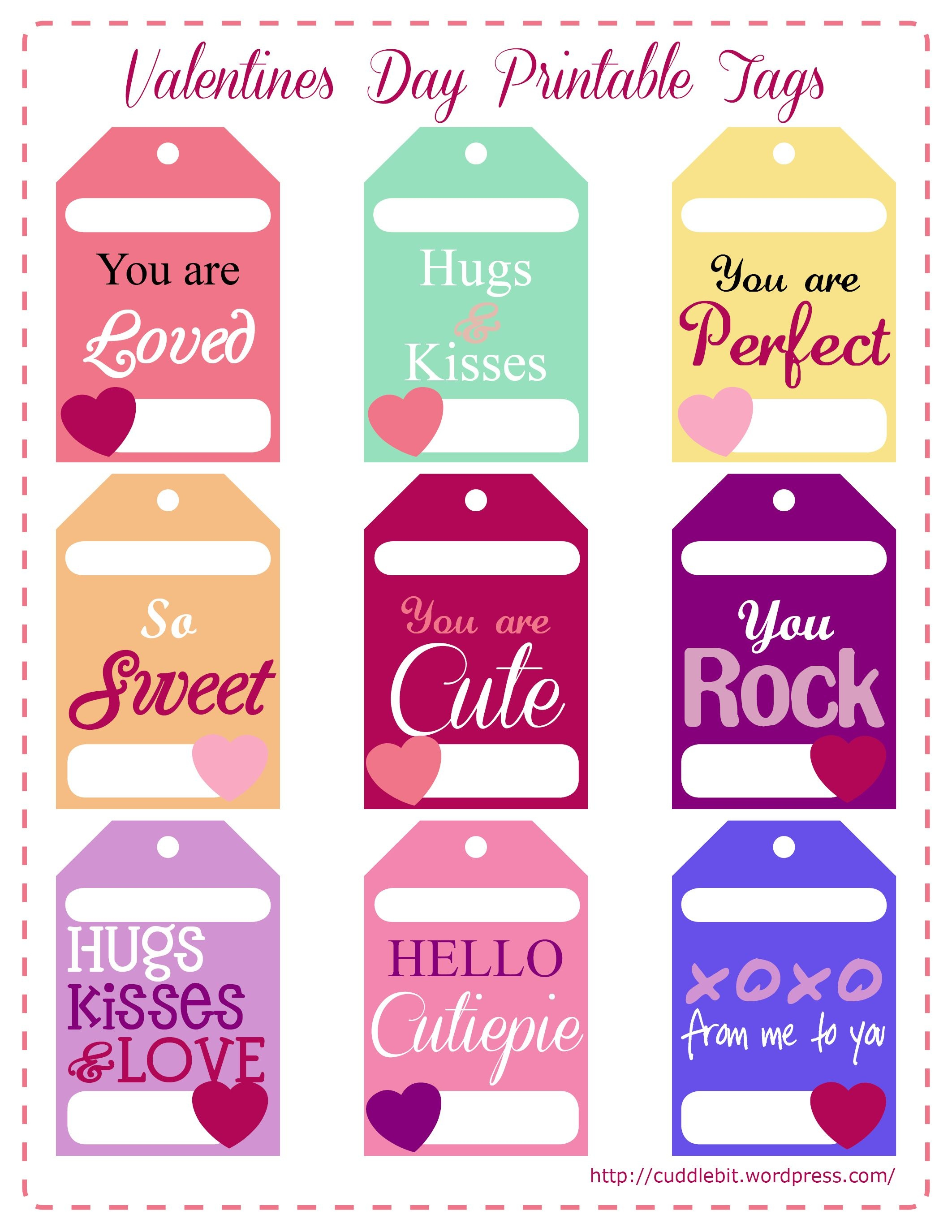 Valentine's Day Love Packs   So Stinking Cute!!   Valentine - Free Printable Valentines Day Tags