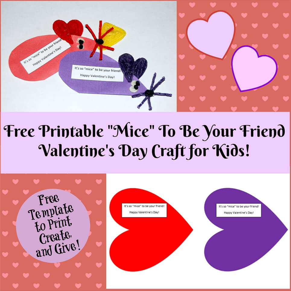 Valentine's Day Printable Card Crafts For Kids To Create! | Wikki Stix - Free Printable Valentines Day Cards Kids