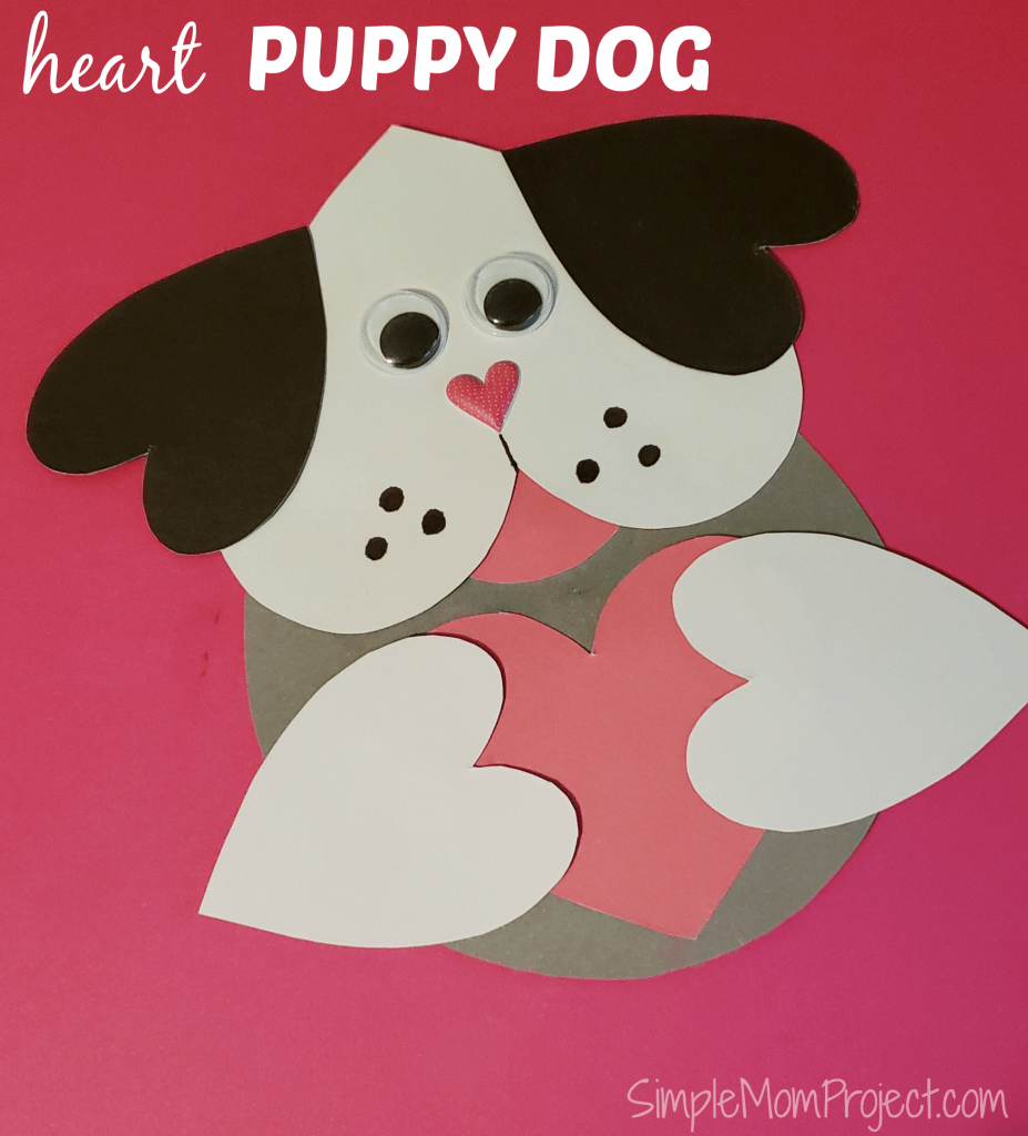 Valentine's Day Puppy Dog Card With Free Printable Template - Simple - Free Printable Dog Valentines Day Cards