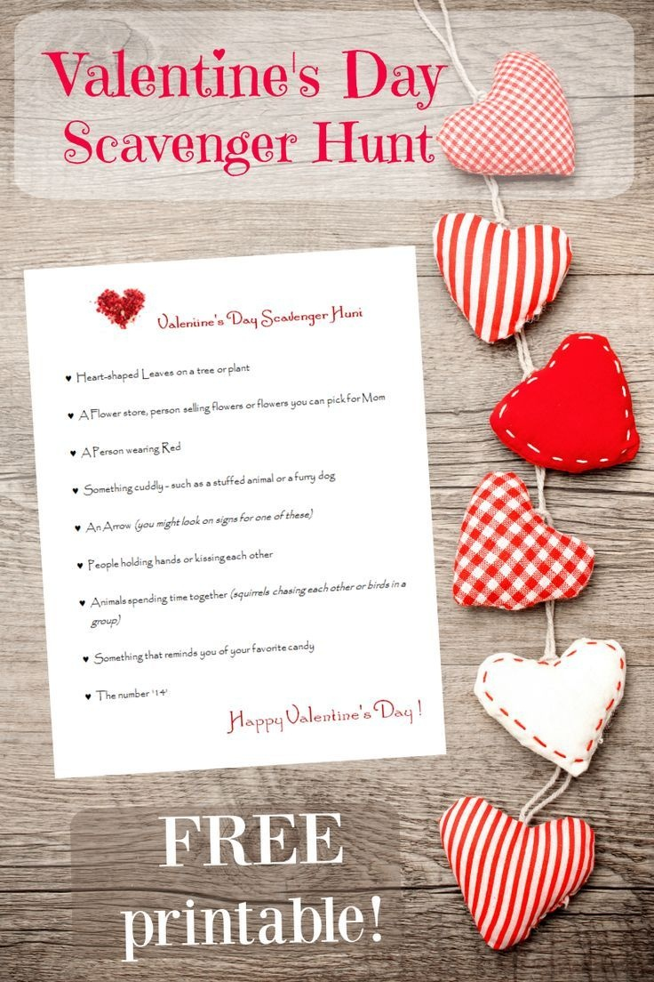 Valentine's Day Scavenger Hunt & Activities {Free Printable!} | Free - Free Printable Group Games