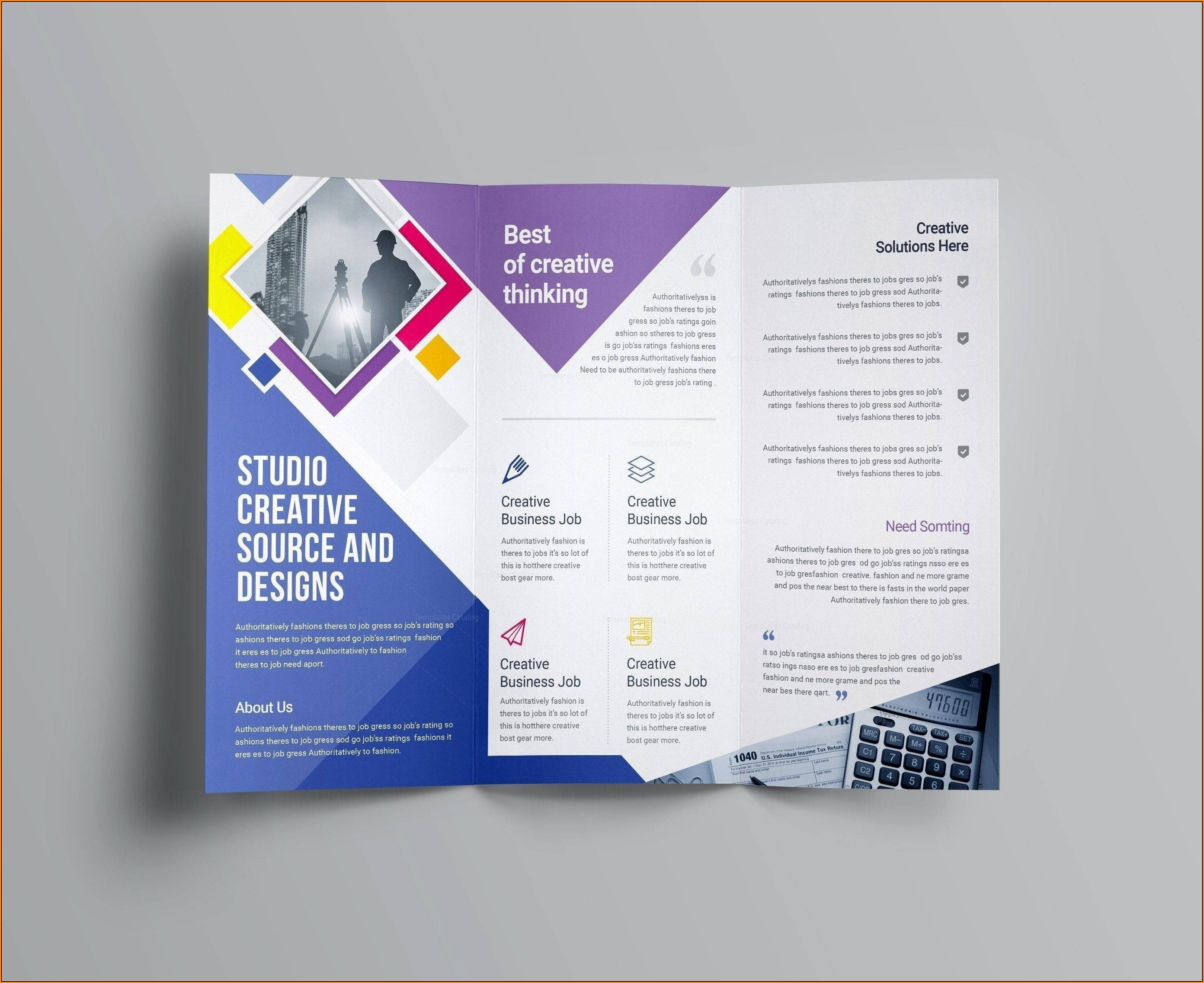 Valid Business Brochure Templates Psd Free Download | Wattweiler - Business Flyer Templates Free Printable