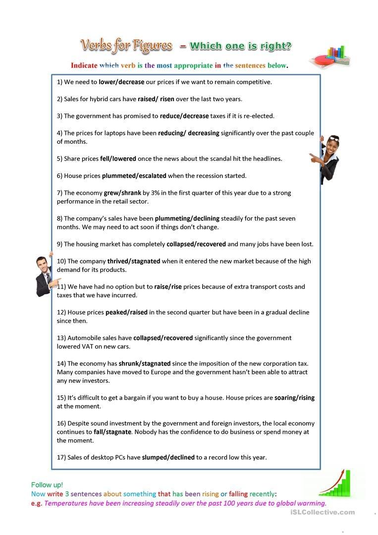Verbs For Statistics Worksheet - Free Esl Printable Worksheets Made - Free Printable Statistics Worksheets