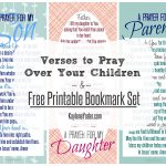Verses To Pray Over Your Children And Free Printable   Free Printable Prayer Cards For Children