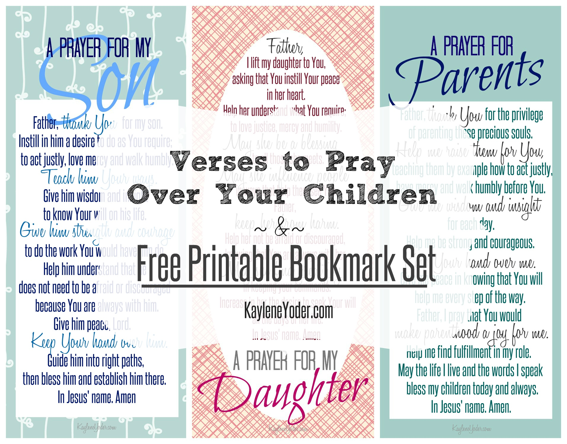 Verses To Pray Over Your Children And Free Printable - Free Printable Prayer Cards For Children
