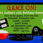Video Games Birthday Invitation | Tuck's Birthday In 2019   Free Printable Video Game Party Invitations
