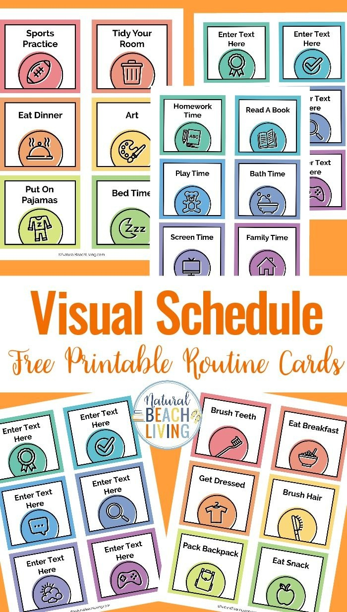 Visual Schedule - Free Printable Routine Cards | Diy | Visual - Routine Cards Printable Free