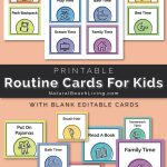 Visual Schedule   Free Printable Routine Cards   Natural Beach Living   Free Printable Routine Cards
