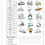 Vocabulary Matching Worksheet   Transport Worksheet   Free Esl   Free Printable Transportation Worksheets For Kids