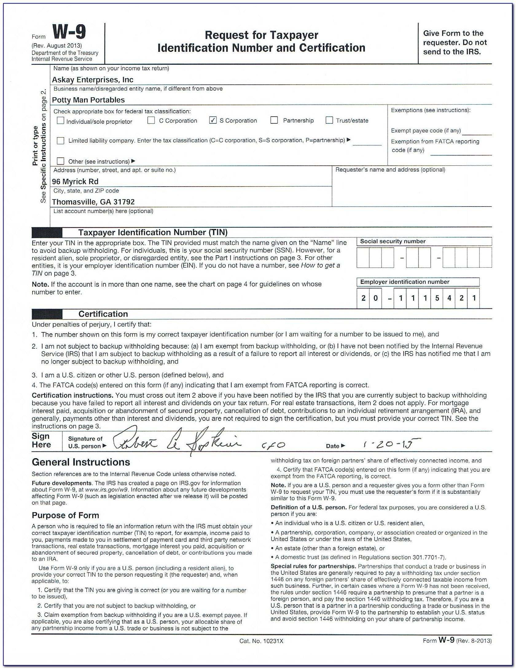 W9 Free Printable Form 2016 - Form : Resume Examples #x6Ped3Vlad - Free Printable W9