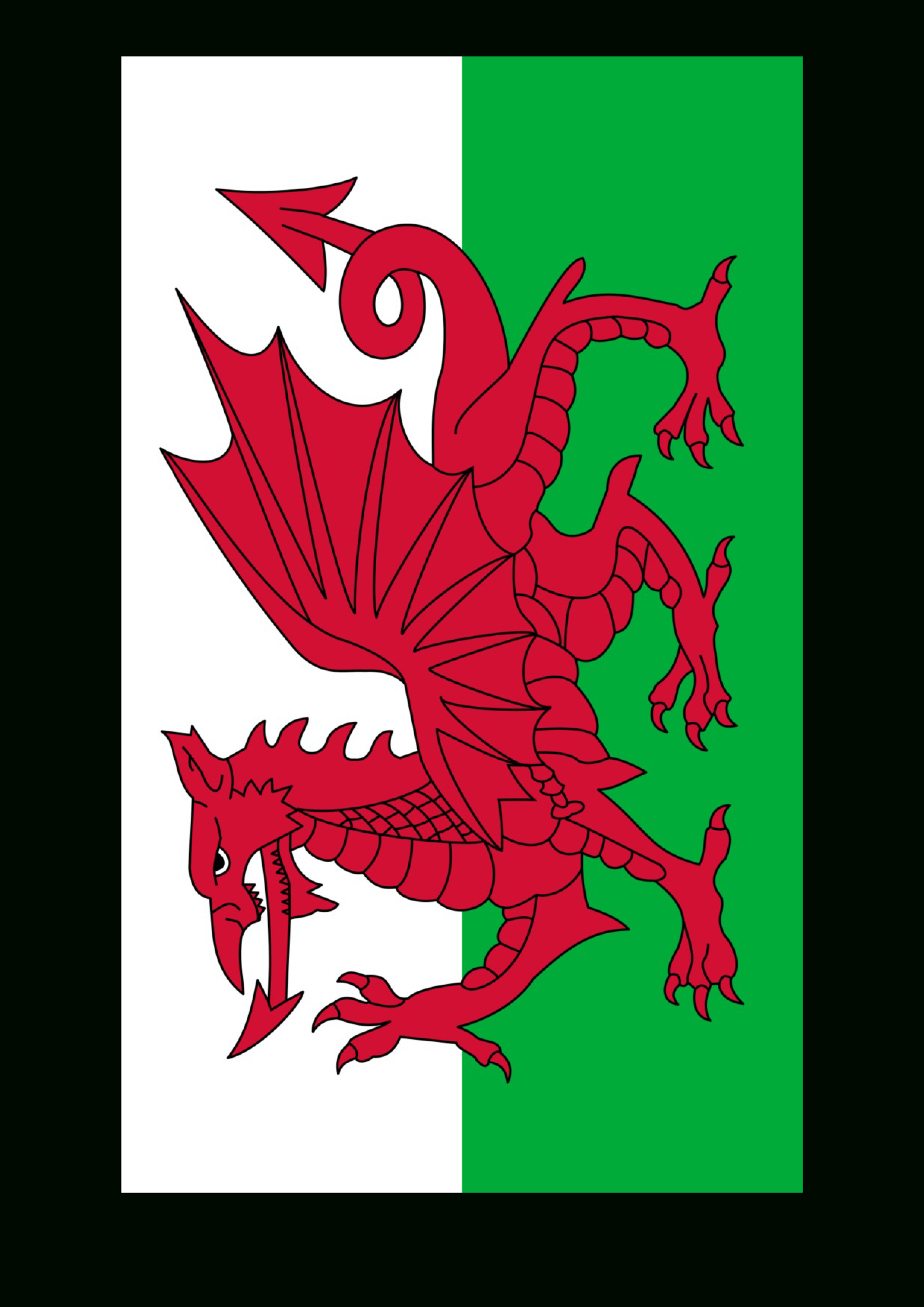 Wales Flag - Download This Free Printable Wales Template A4 Flag, A5 - Free Printable Scottish Flag