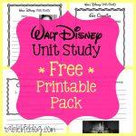 Walt Disney Unit Study (With Free Printable!) • Tablelifeblog   Free Printable Disney Stories