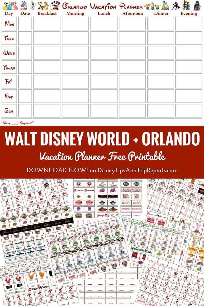 Walt Disney World + Orlando Vacation Planner | Free Printable *updated* - Free Disney Planning Binder Printables