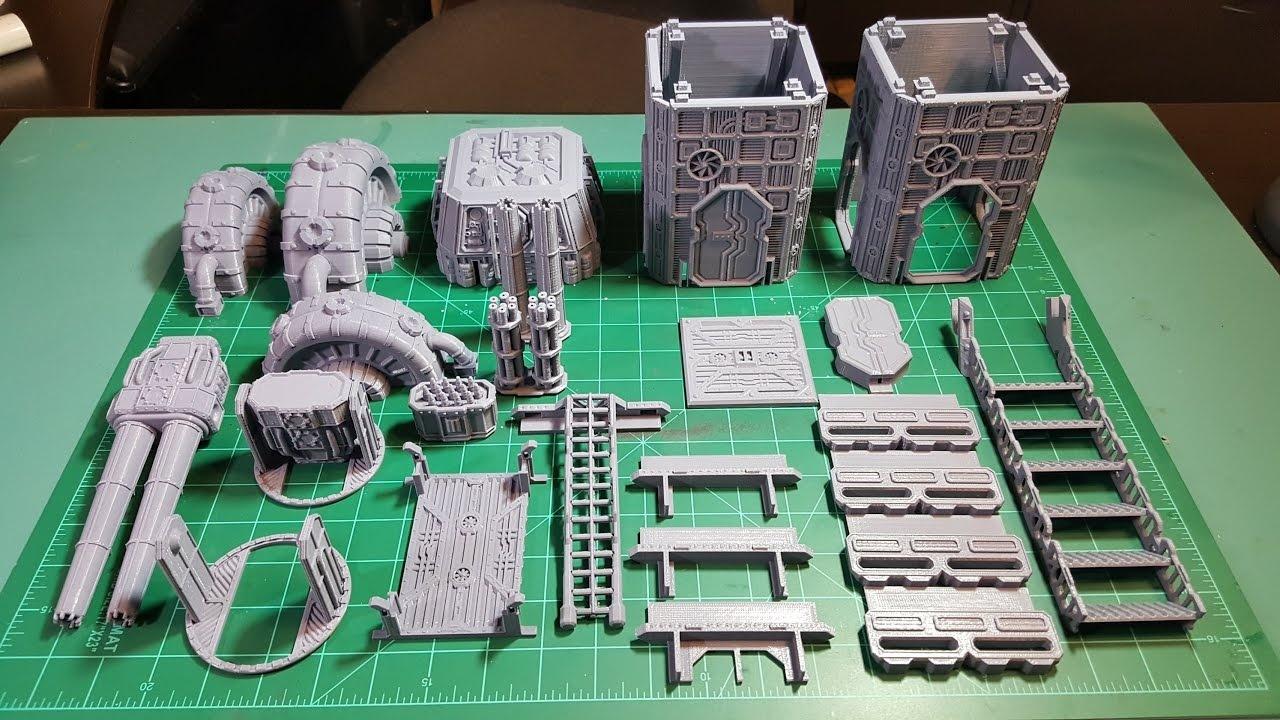 Warlayer 3D Printable Terrain - Kickstarter And Printed Examples - Free 3D Printable Terrain