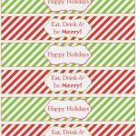 Water Bottle Printables For Christmas – Christmas Printables – Print   Christmas Water Bottle Labels Free Printable