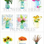 Watercolor Printable Series Flowers & Herbs | On Sutton Place   Free Watercolor Printables