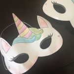 Watercolor Unicorn Mask + Free Printable: 4 Steps   Free Printable Unicorn Mask