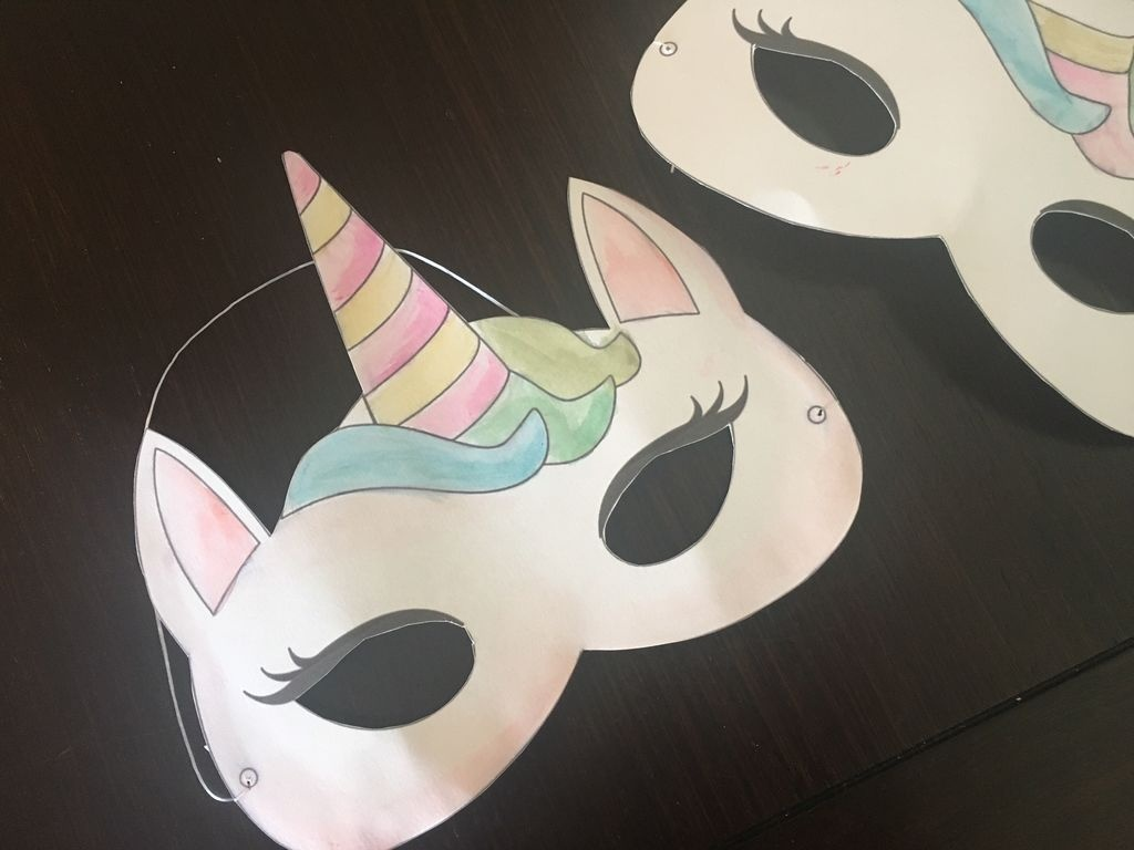 Watercolor Unicorn Mask + Free Printable: 4 Steps - Free Printable Unicorn Mask
