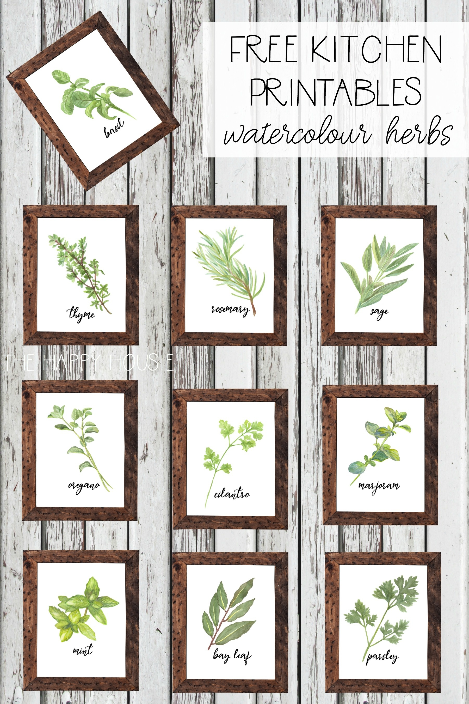 Watercolour Herb Free Kitchen Printables {In 10 Designs!} | The - Free Printable Pictures Of Herbs