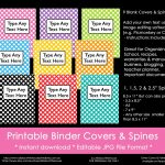 Ways To Organize Using Binder Covers (Plus A Free Printable Monogram   Free Editable Printable Binder Covers And Spines