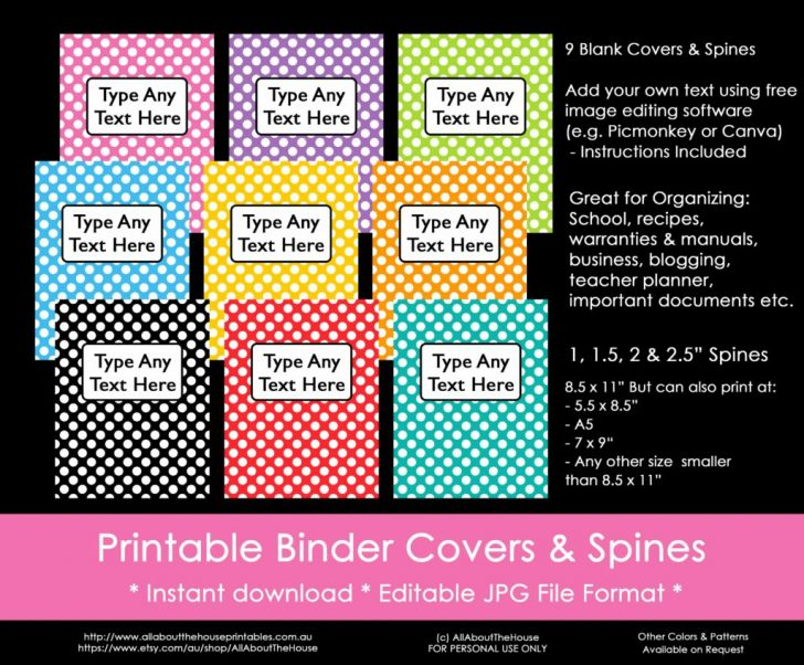 Free Editable Printable Binder Covers And Spines