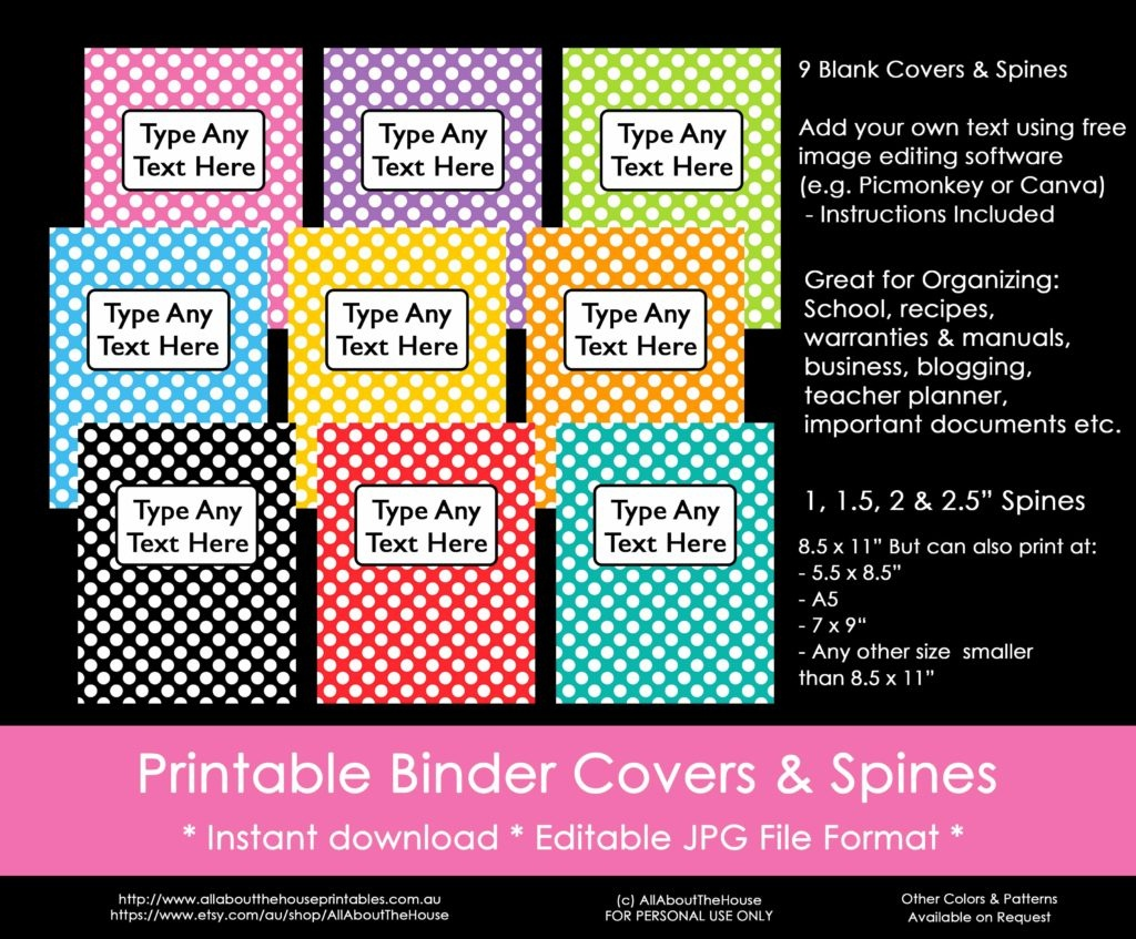 Ways To Organize Using Binder Covers (Plus A Free Printable Monogram - Free Editable Printable Binder Covers And Spines