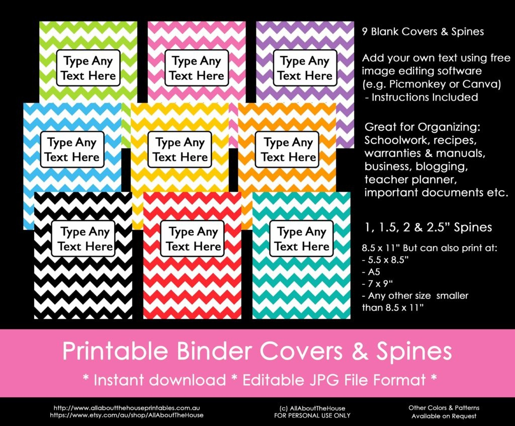 Ways To Organize Using Binder Covers (Plus A Free Printable Monogram - Free Printable Binder Covers And Spines