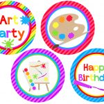 We Heart Parties: Free Printables Art Party Free Printables   Free Printable Paint Palette