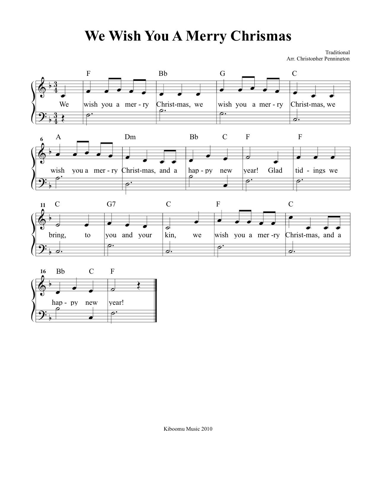 We Wish You A Merry Christmas Sheet Music And Song For Kids! | Music - Free Christmas Sheet Music For Keyboard Printable