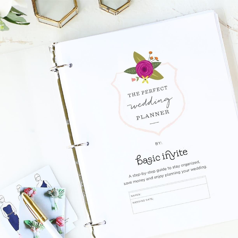 Wedding Planner Printablebasic Invite - Free Wedding Binder Printables