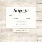 Wedding Response Card Template Free   Free Printable Rsvp Cards