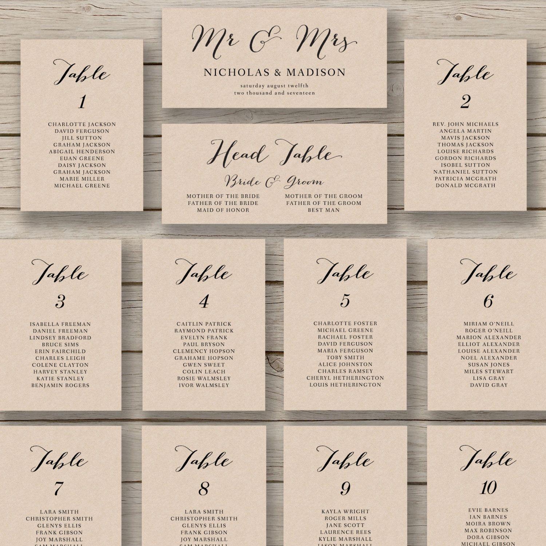 Wedding Seating Chart Template Printable - Tutlin.psstech.co - Free Printable Wedding Seating Chart Template