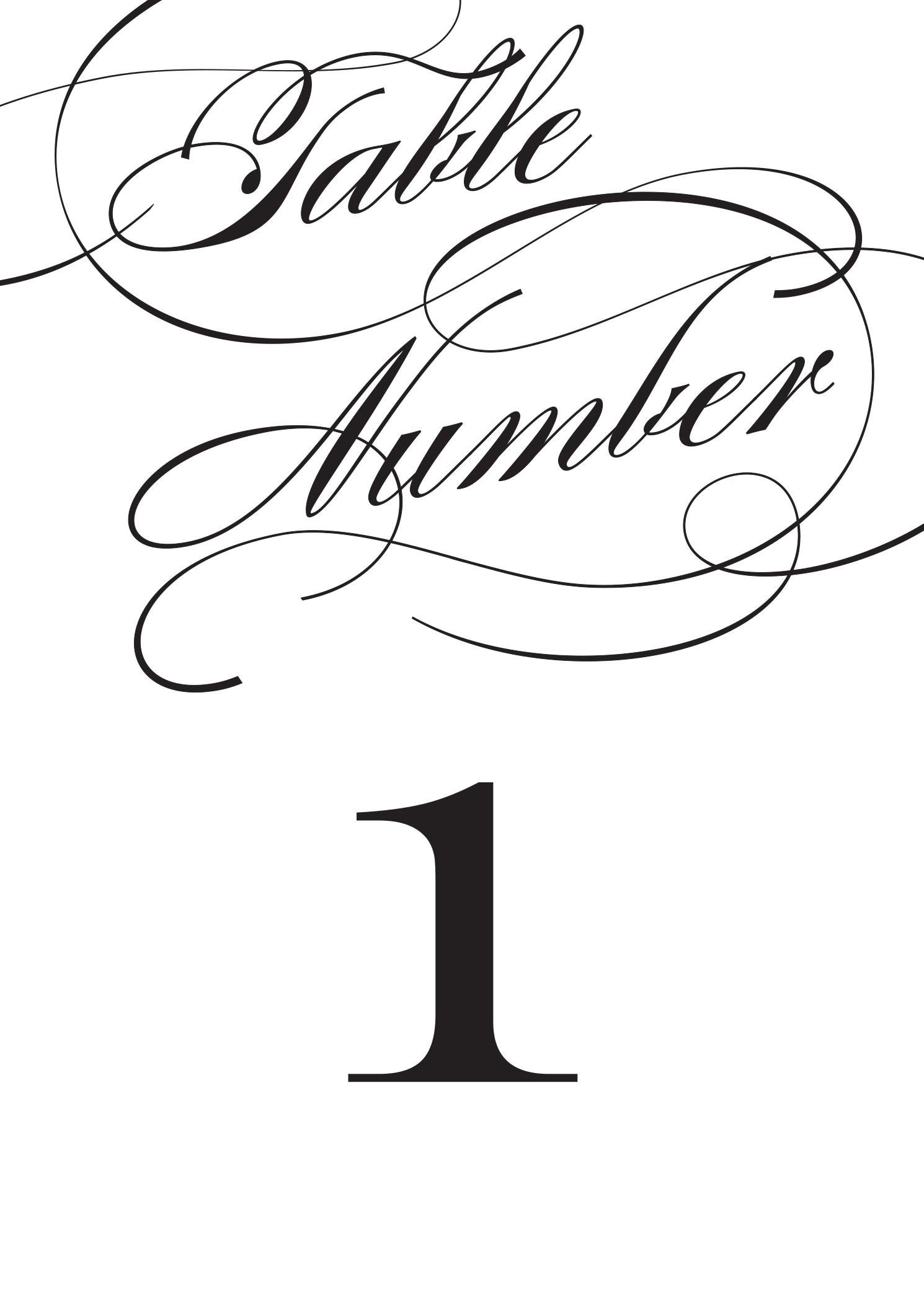 Wedding Table Numbers | Printable Pdfbasic Invite - Free Printable Table Numbers 1 20