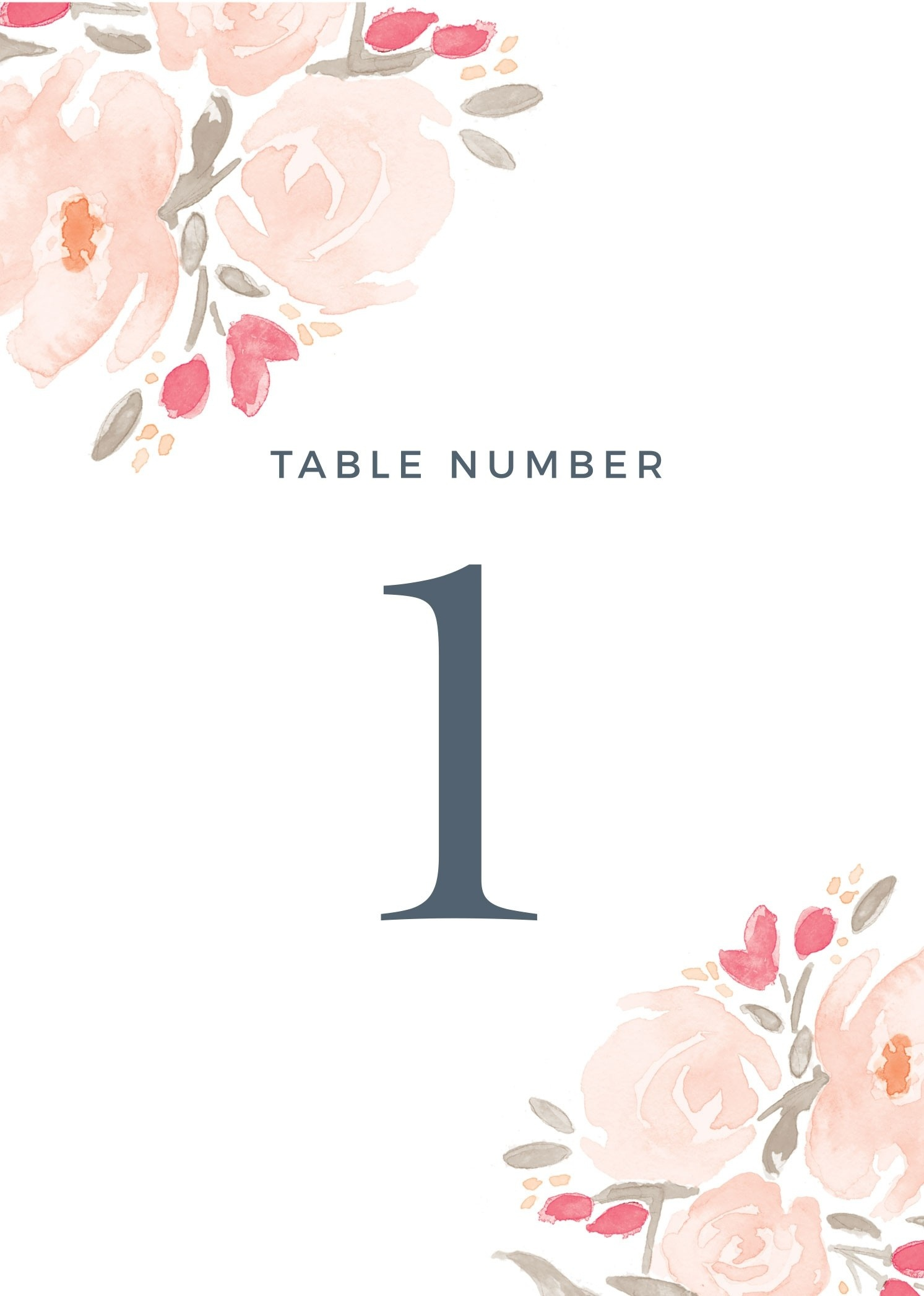 Wedding Table Numbers | Printable Pdfbasic Invite - Free Printable Table Numbers 1 30