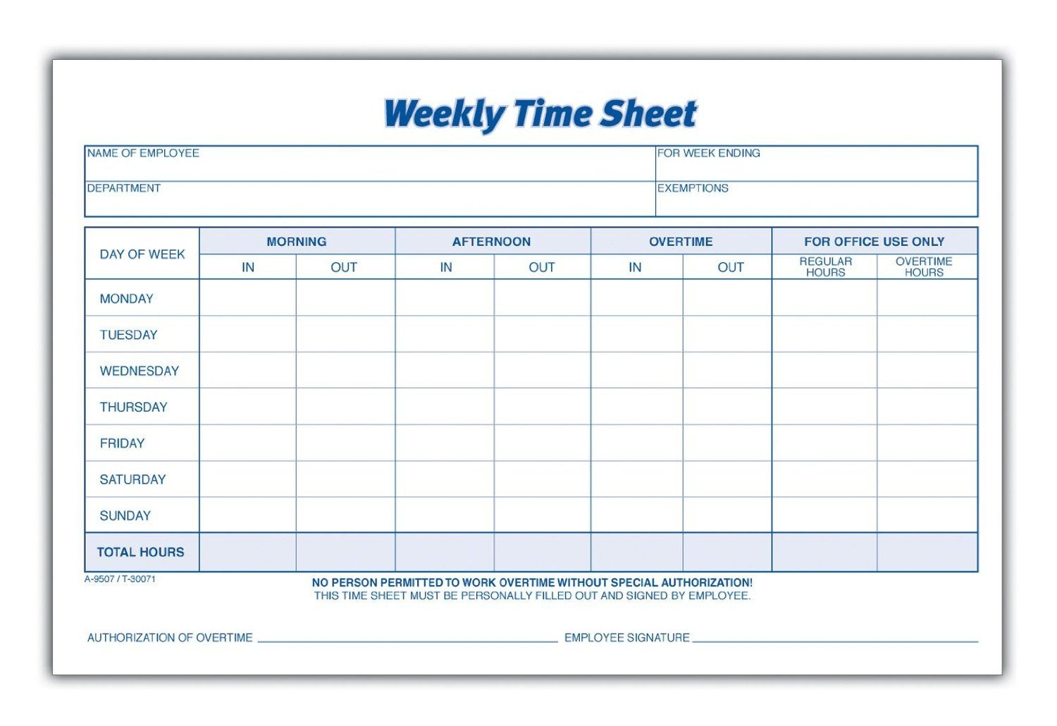 Weekly Employee Time Sheet | Good To Know | Timesheet Template - Free Printable Time Sheets Pdf
