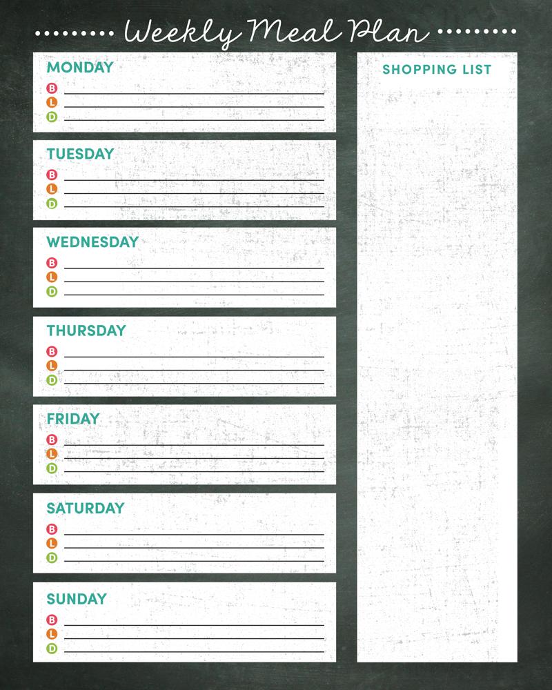 Weekly Meal Planner Printable - Weekly Menu Free Printable