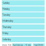 Weekly Workout Plan   Free Workout Planner Printable   The Little   Free Printable Workout Plans