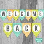 Welcome Back First Day Of School Banner Printable Instant | Etsy   Welcome Back Banner Printable Free