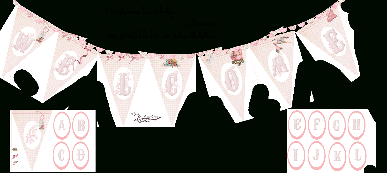 Welcome Home Baby-Girl Banner   Do It Yourself Today   Welcome Home - Baby Girl Banner Free Printable