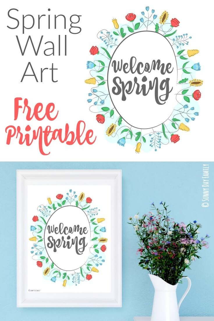 Welcome Spring: Free Printable Wall Art | Sunny Day Family - Free Printable Spring Decorations