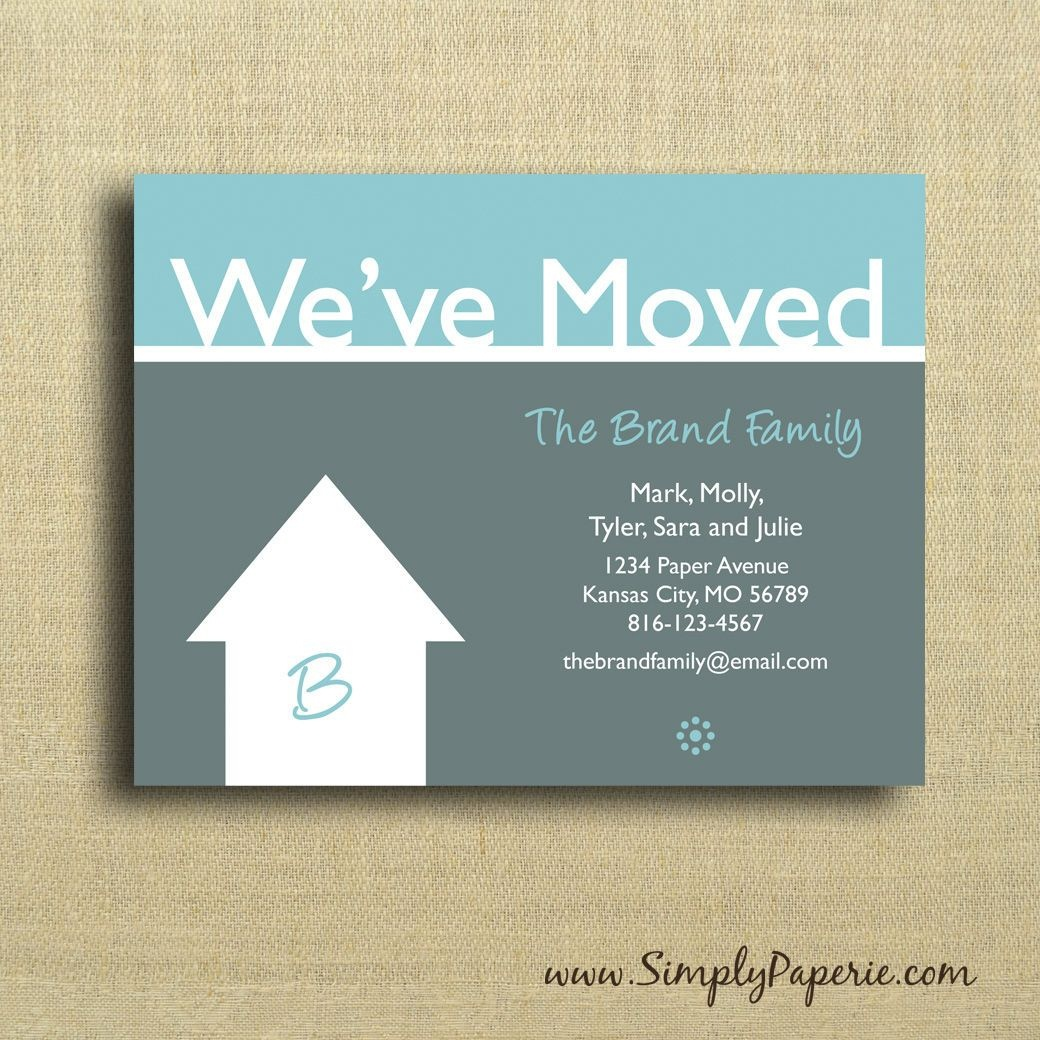 We're Moving Cards Free Printable - Google Search | We've Moved - We Re Moving Cards Free Printable