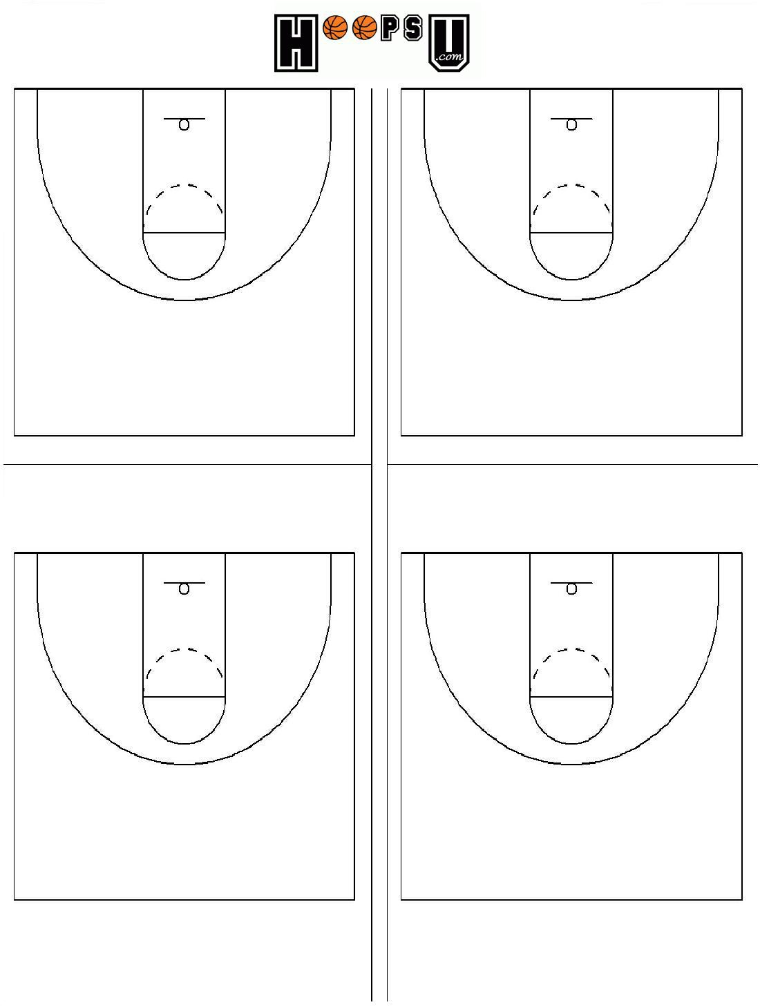 What Are The Basketball Court Dimensions - Diagrams For Court Striping - Free Printable Basketball Court
