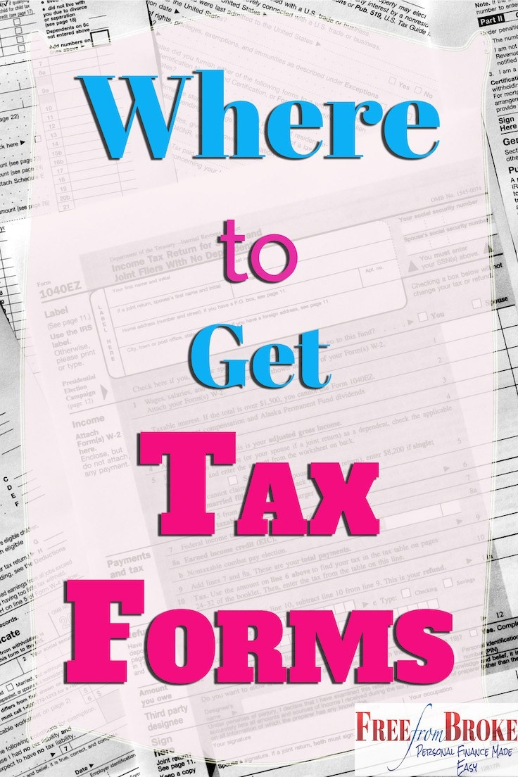 Where Can I Get Irs Tax Forms And Options To File Free - Free Printable Irs Forms