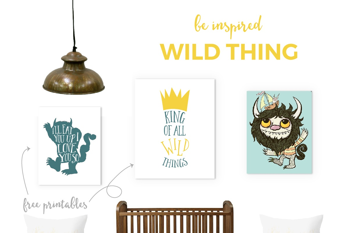 Where The Wild Things Are Nursery + Free Printables - Where The Wild Things Are Free Printables