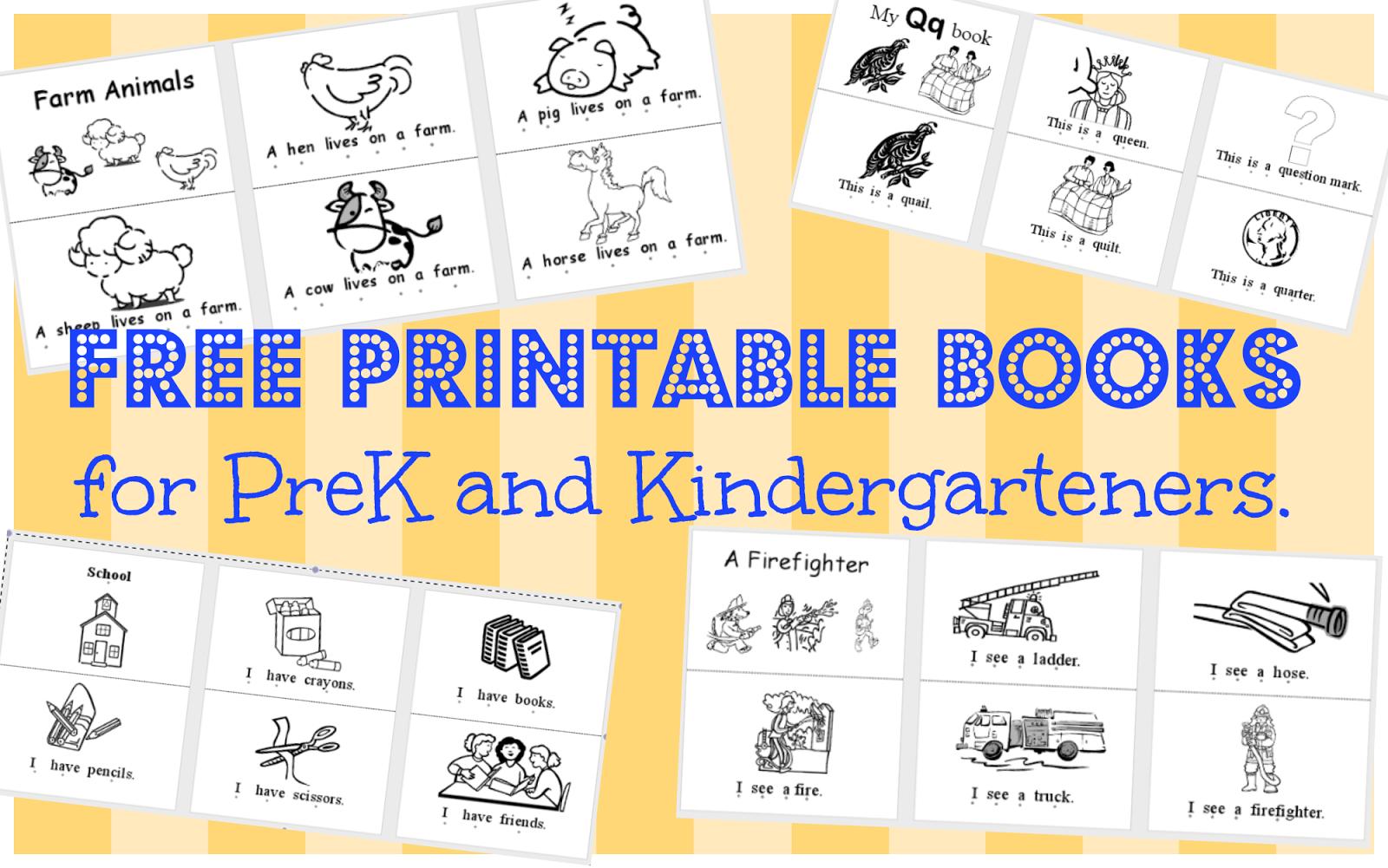 Wild Rumpus School House: *printable Books (Pk-K) - Free Printable Reading Books For Preschool