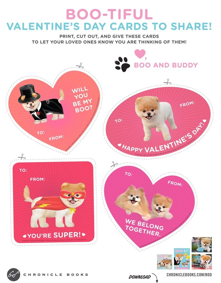 Will You Be My Boo? Free Printable Valentines, Featuring The World's - Free Printable Dog Valentines Day Cards