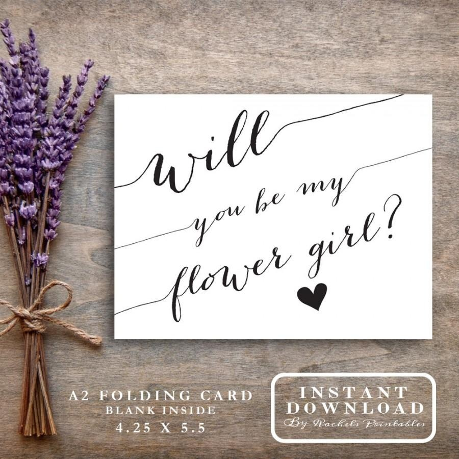 """Will You Be My Flower Girl Card Printable """"will You Be My Flowergirl - Free Printable Bridesmaid Proposal"""