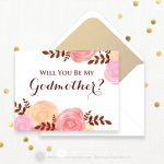 Will You Be My Godmother Printable Wedding Invitation Card | Etsy   Will You Be My Godmother Printable Card Free