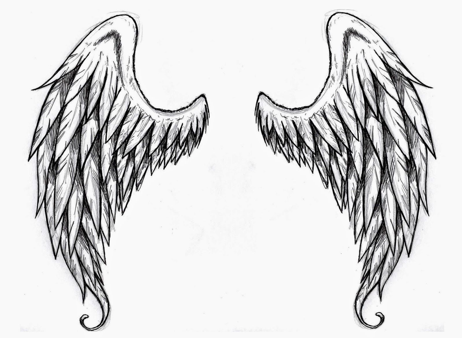 Wings Tattoo Stencilsangel Wings Free Tattoo Stencil - Angel Wings - Free Tattoo Stencils Printable